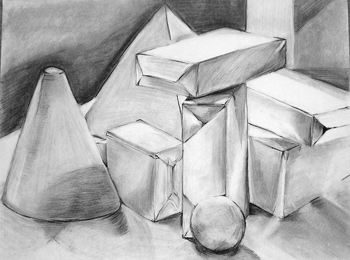 how to draw still life drawing cup step by step