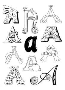 different ways to write letters typography designing your own alphabet twenty 21371 | type versions of a