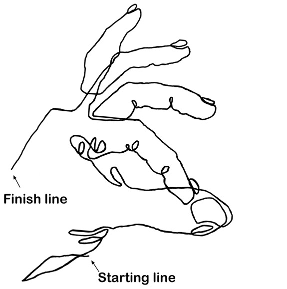 Simple Contour Line Drawing : Line drawings drawing your hands twenty first century