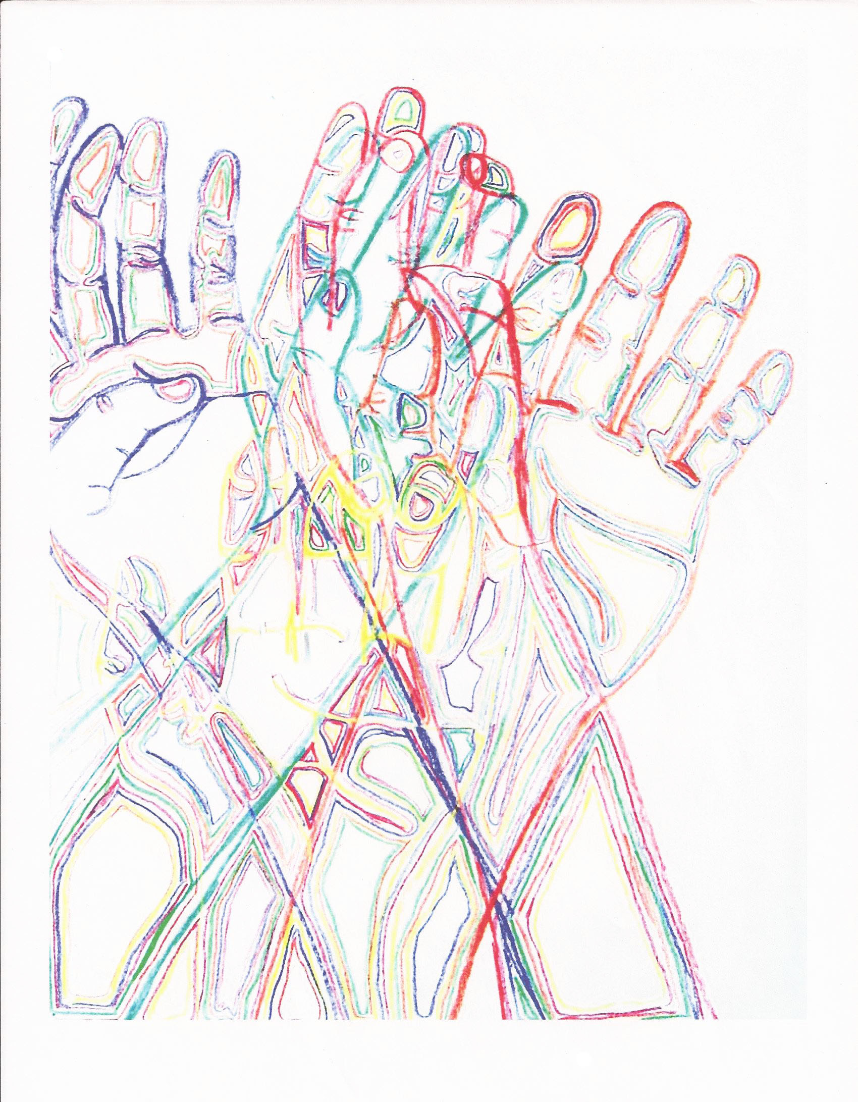 Modified Contour Line Drawing : Line drawings drawing your hands twenty first century